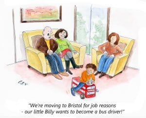 Bus patronage cartoon