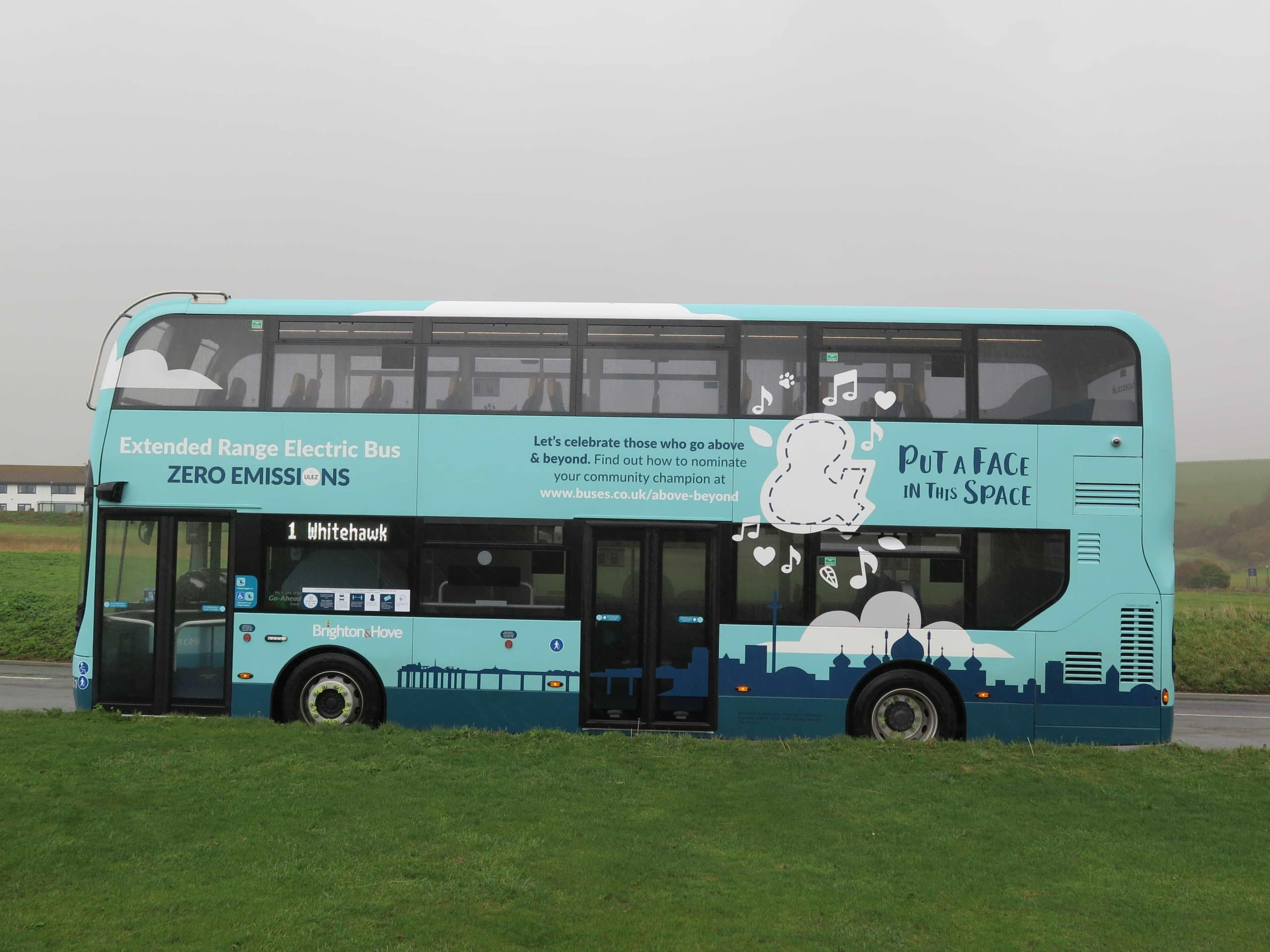 Above and Beyond bus Brighton and Hove