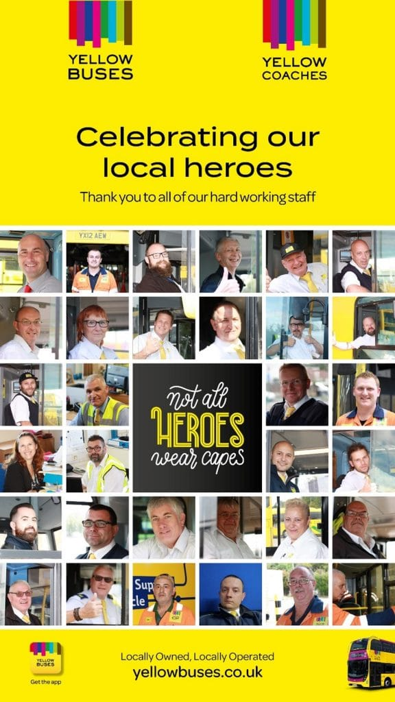 Yellow buses heroes poster