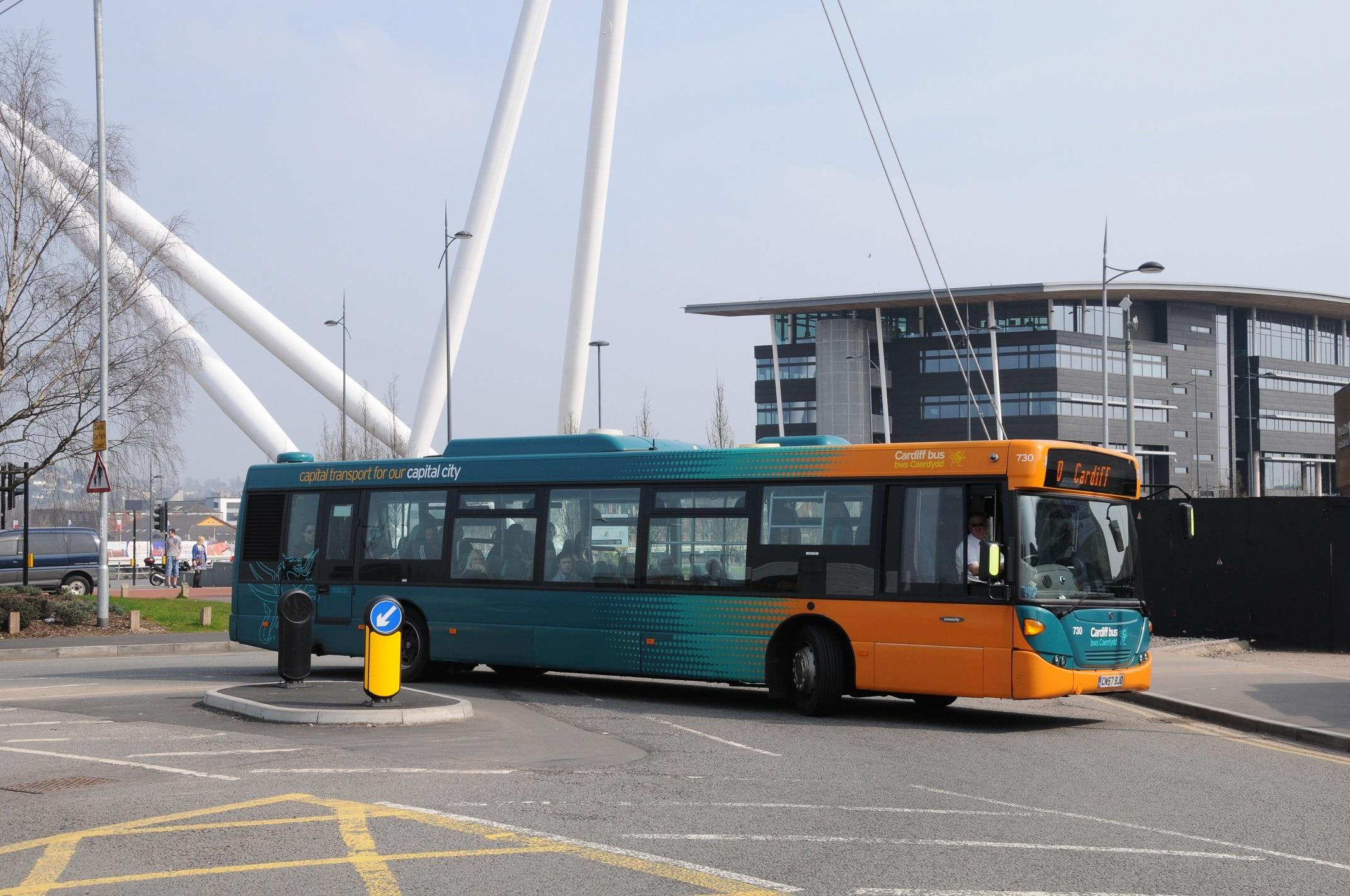 Passenger Cardiff Bus