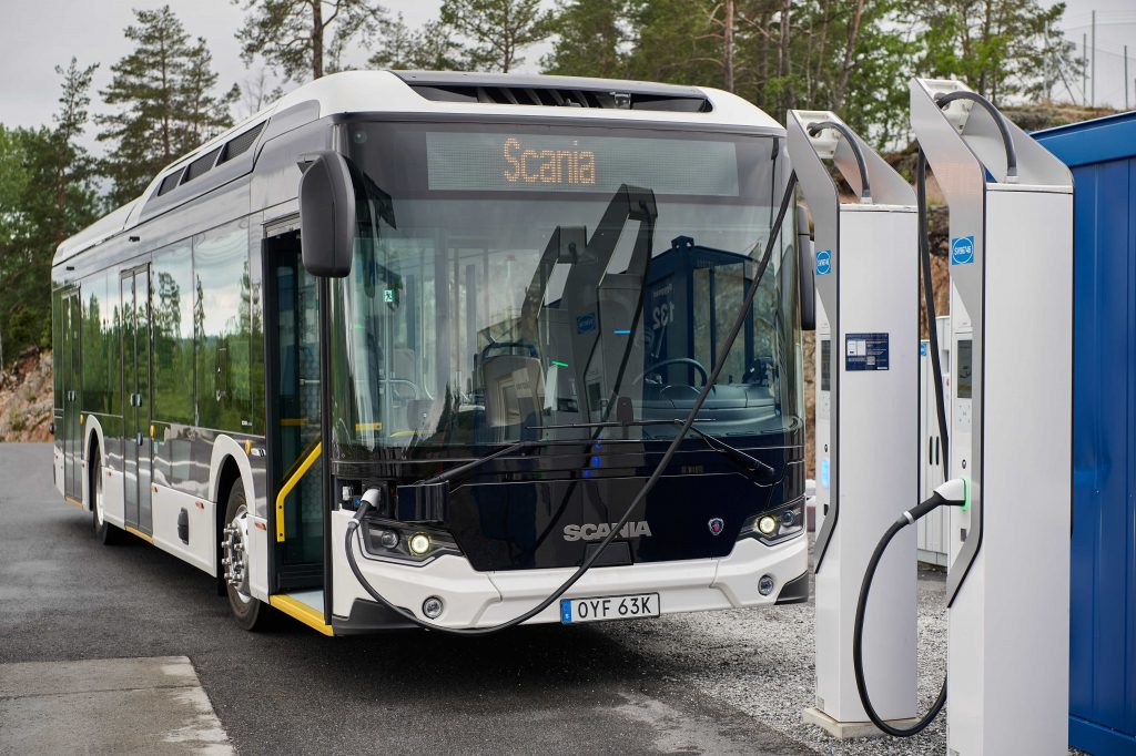 Scania Electric Bus on charge