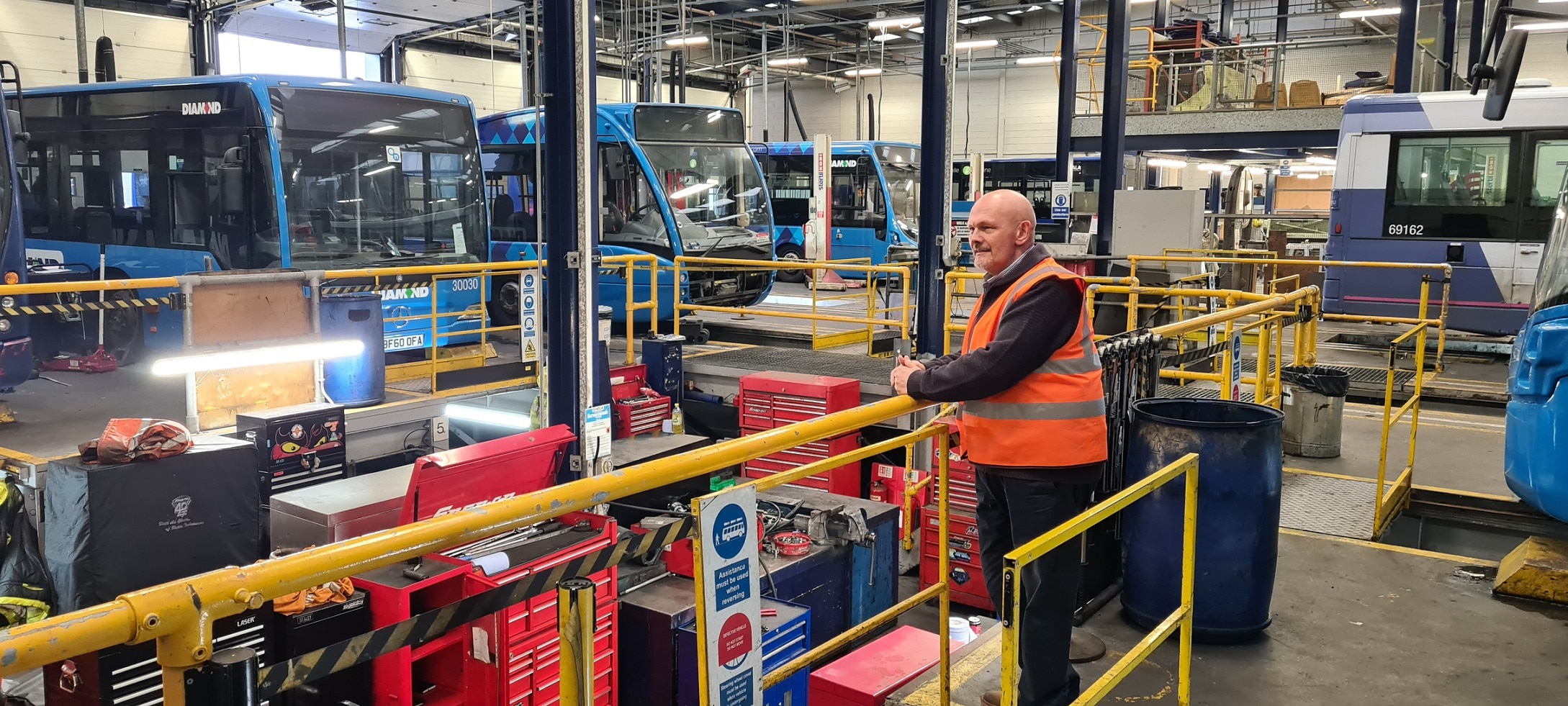 Bob Dunn at Diamond Bus North West's Bolton depot