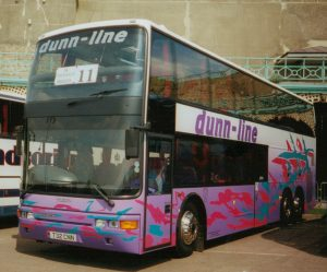 Bob Dunn took this Dunn-Line coach to a UK Coach Rally in Brighton