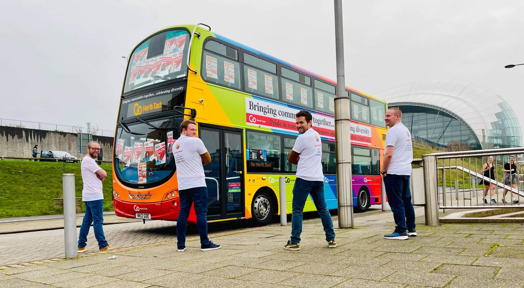 GNE Pride in Transport Bus World AIDS day