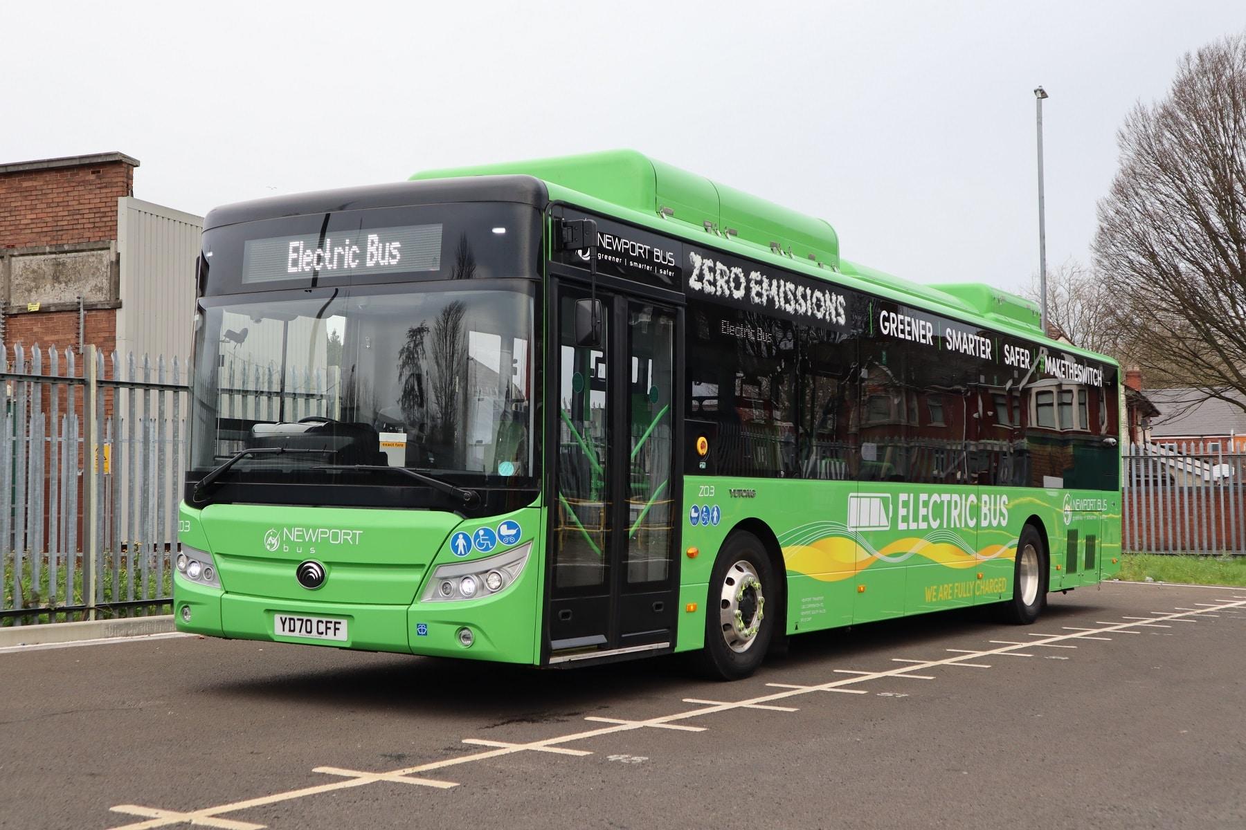 Newport Bus battery-electric Yutong E12