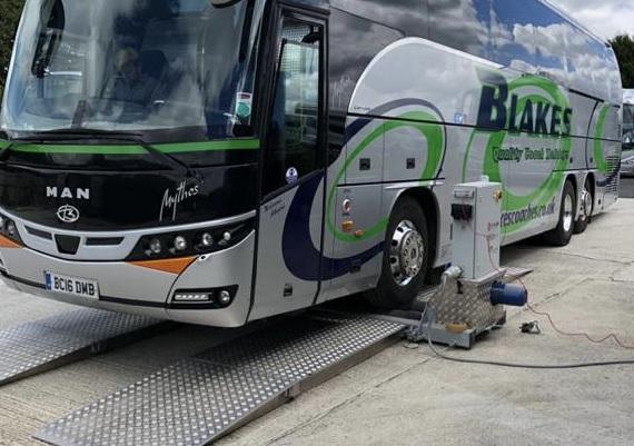 Blakes Coaches Totalkare brake testing equipment