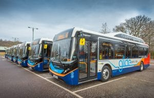 Stagecoach South battery-electric bus in Guildford