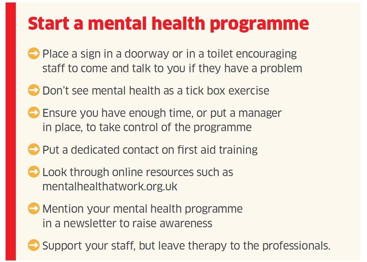 Start a mental health programme