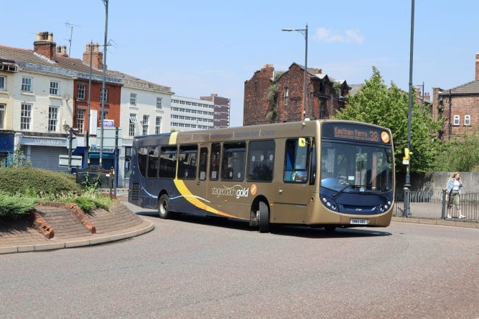 Bus patronage recovery rates showing regional trends