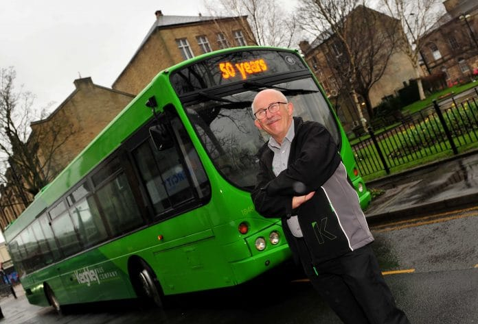 Keighley Bus Company driver John Feather