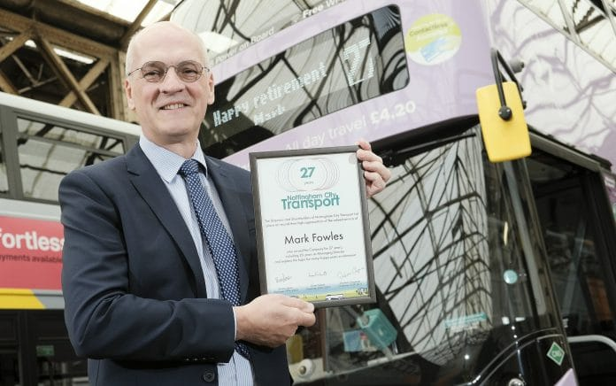 Mark Fowles retires from Nottingham City Tranport after 27 years
