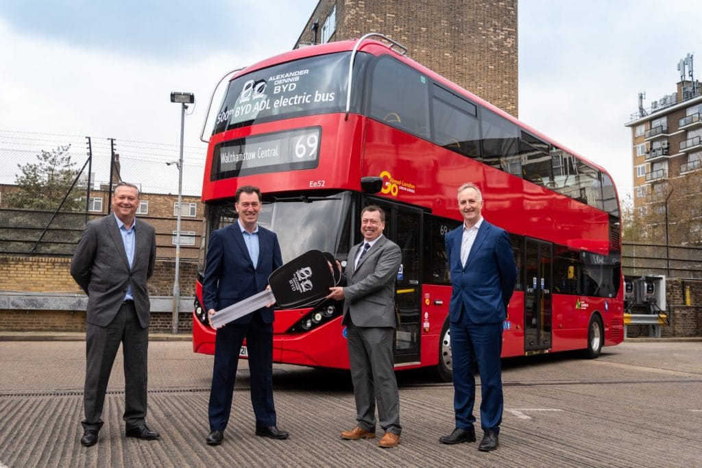 500th BYD ADL electric bus handover