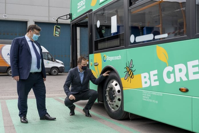 Stagecoach and Bridgestone work together on new tyre