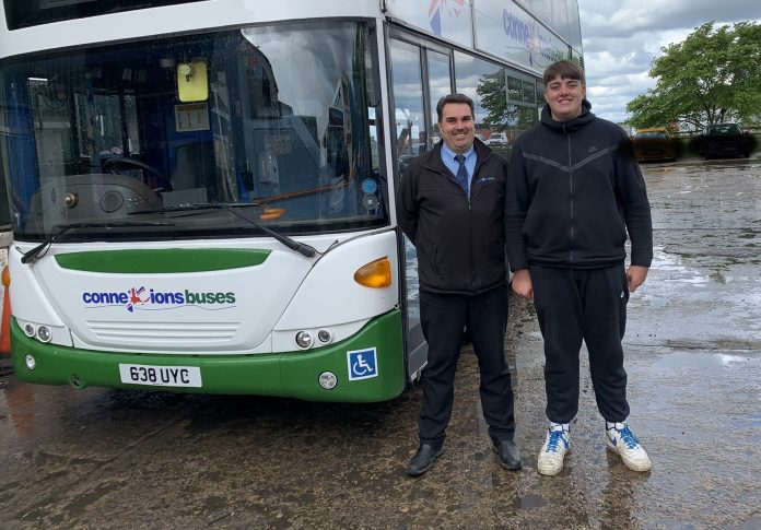 Craig Temple and Jake Temple of Connexions Buses