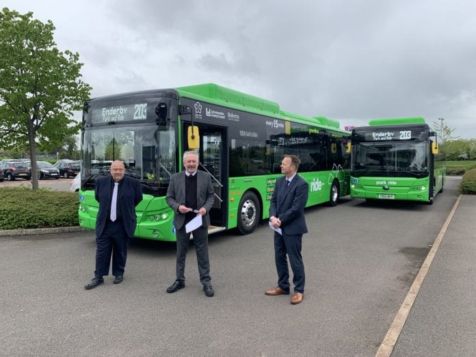 First electric buses enter service in Leicester