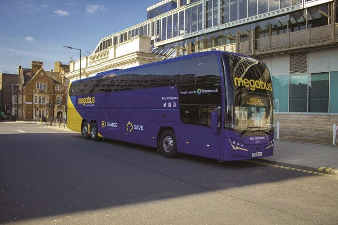 Megabus and Yellow Buses collaboration on new coach route