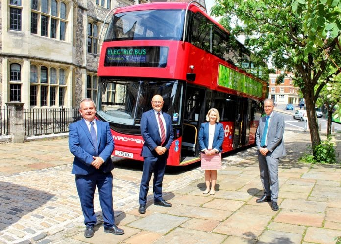 Bluestar electric bus demonstration to Hampshire County Council