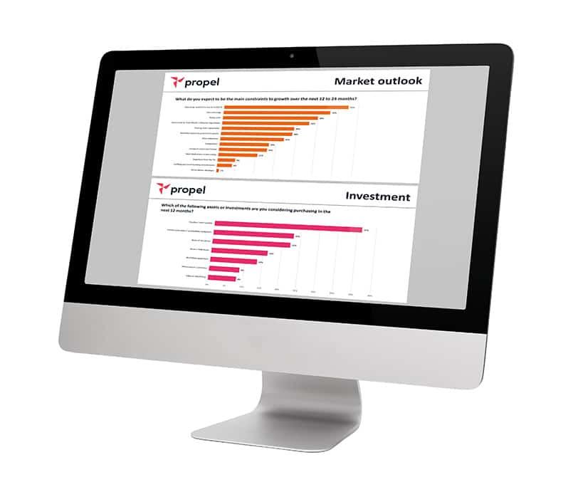 Screenshot of Propel Finance survey