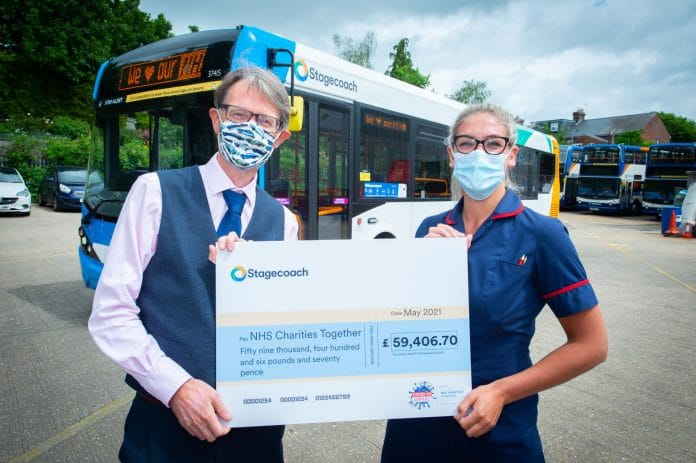 Stagecoach South NHS Charities 59k