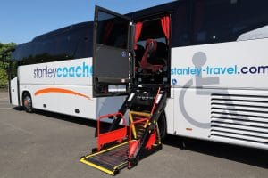 PLS Access lift fitted to Stanley Travel coach