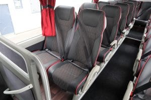 Volvo seat in 9700 two axle coach