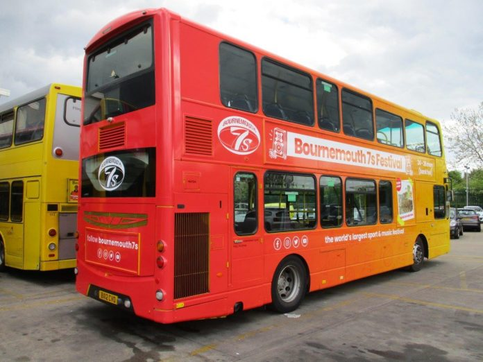Bournemouth Yellow Buses helps out at festivals