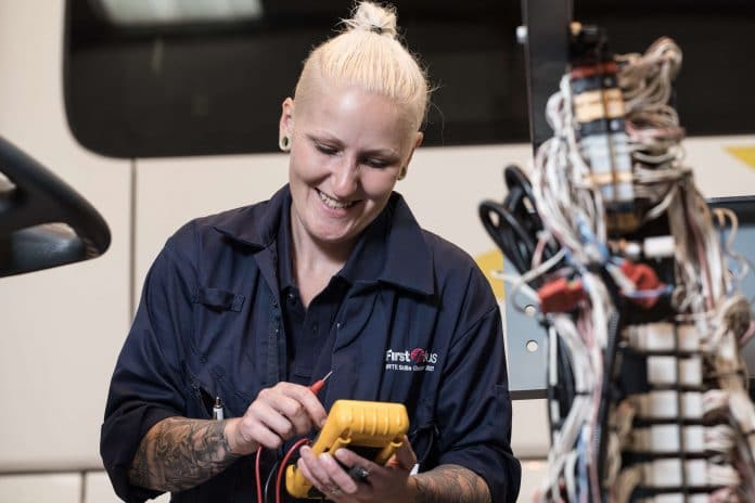 First Bus apprentice engineer Danielle Curtis