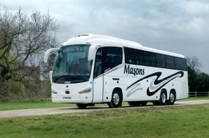 Scania Financial Services funded Scania Irizar i6S for Masons Coaches