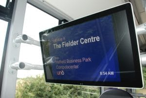Uno Volvo B8RLE with audio-visual next stop announcements