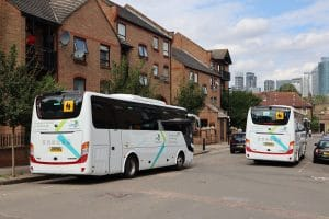 Yutong TC9 Mobility fleet with Tower Hamlets