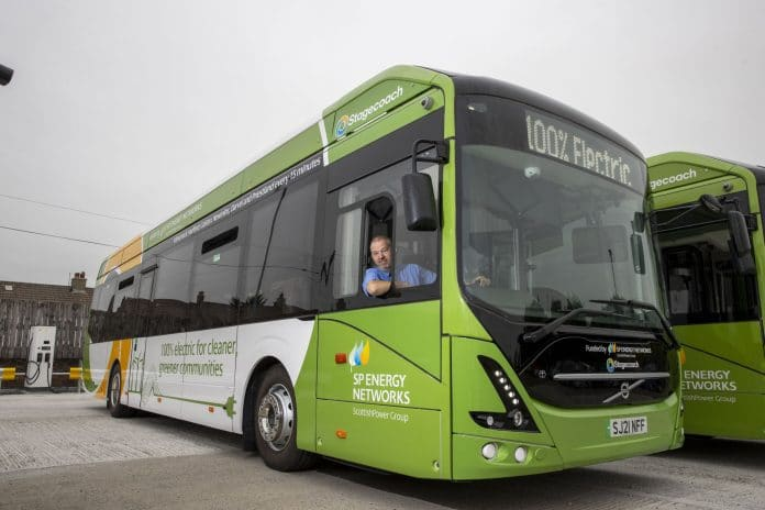 Electric buses in West Scotland Stagecoach
