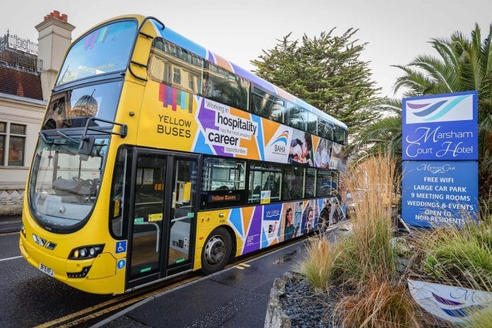 Yellow Buses working with the hospitality sector